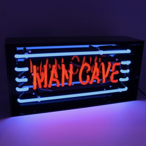 'MAN CAVE' ACRYLIC BOX NEON LIGHT - Decor Interiors -  House & Home