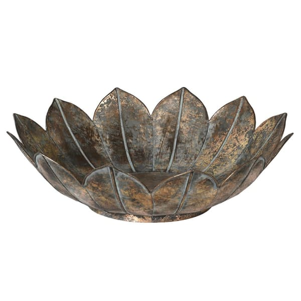 Metal Lotus Flower Bowl - Decor Interiors -  House & Home