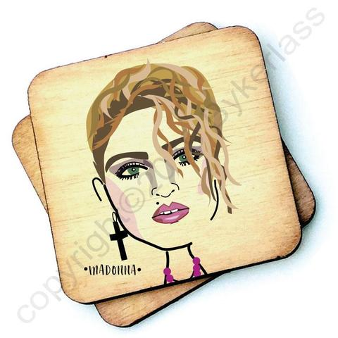 Madonna Character- Wooden Coasters - Decor Interiors -  House & Home