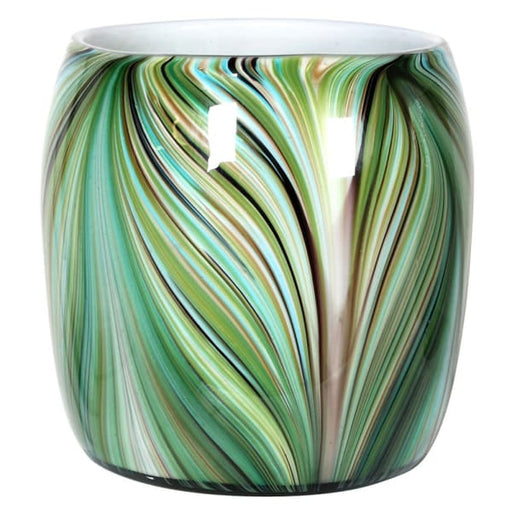 Waves of Green Round Vase - Decor Interiors -  House & Home