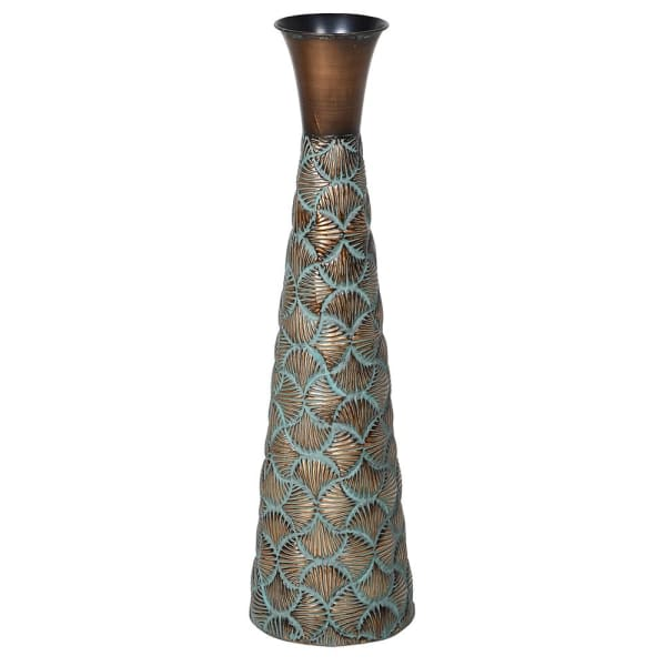 Patterned Copper Vase - Decor Interiors -  House & Home