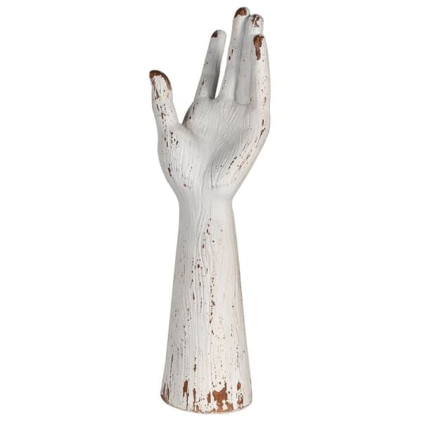 Distressed White Hand Deco - Decor Interiors -  House & Home