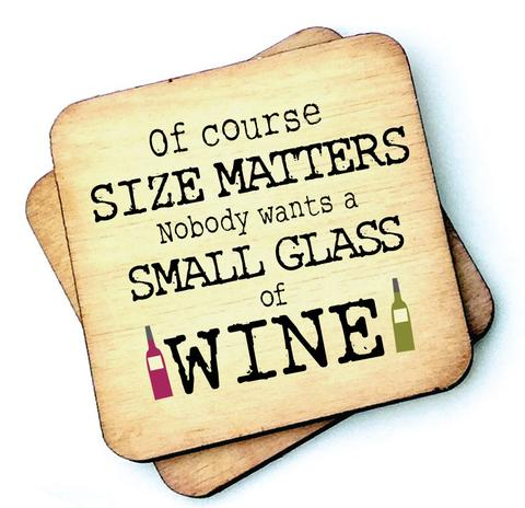 Of Course Size Matters – Wine Rustic Wooden Coaster - Decor Interiors -  House & Home