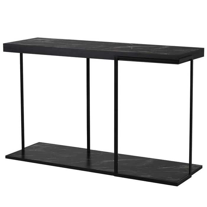 Naples - Black Marble Effect Console Table - Decor Interiors -  House & Home
