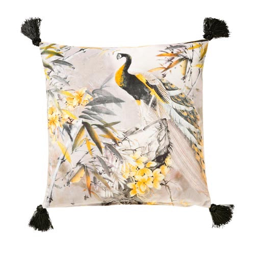 Samaya 45x45cm Cushion, Black/Gold - Decor Interiors -  House & Home