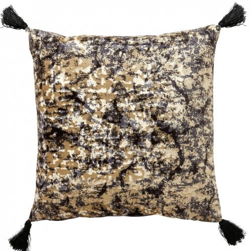 Sabine 45x45cm Cushion, Black/Gold - Decor Interiors -  House & Home