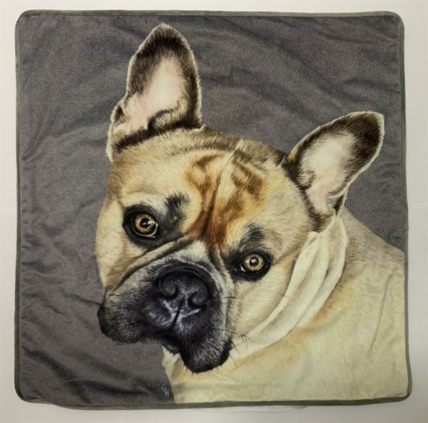 Juniper Carrie Painted Dog Cushion - Decor Interiors -  House & Home