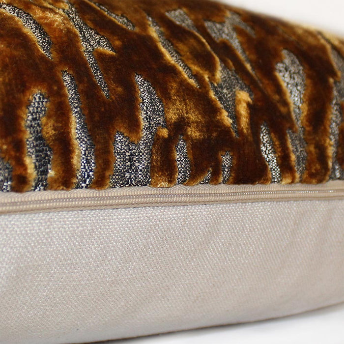Tigris 43x43cm Cushion, Antique Gold - Decor Interiors -  House & Home