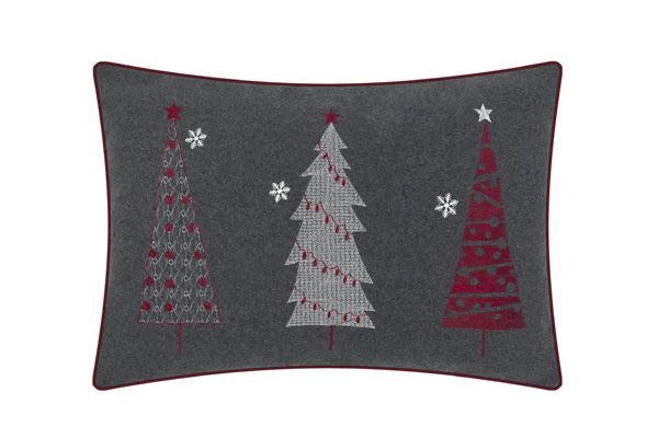 Juniper Festive Trees Embroidered Cushion - Decor Interiors -  House & Home