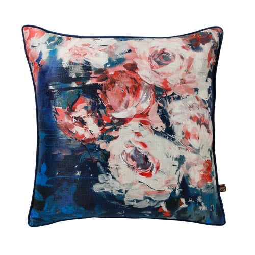 GIGI 45x45cm Cushion, Navy/Pink - Decor Interiors -  House & Home