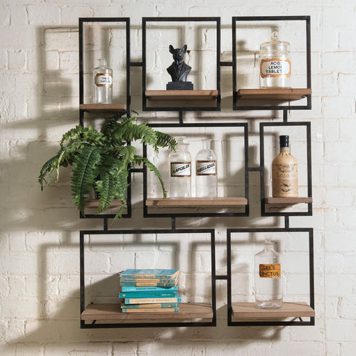 AVONDALE GEOMETRIC WALL SHELF - Decor Interiors -  House & Home