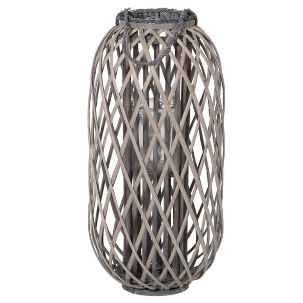 Small Willow Floor Lantern - Grey - Decor Interiors -  House & Home