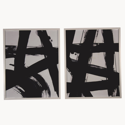 BROOKBY SET OF 2 FRAMED ABSTRACT WALL ART - Decor Interiors -  House & Home