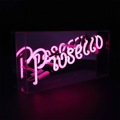 'PROSECCO' ACRYLIC BOX NEON LIGHT - Decor Interiors -  House & Home