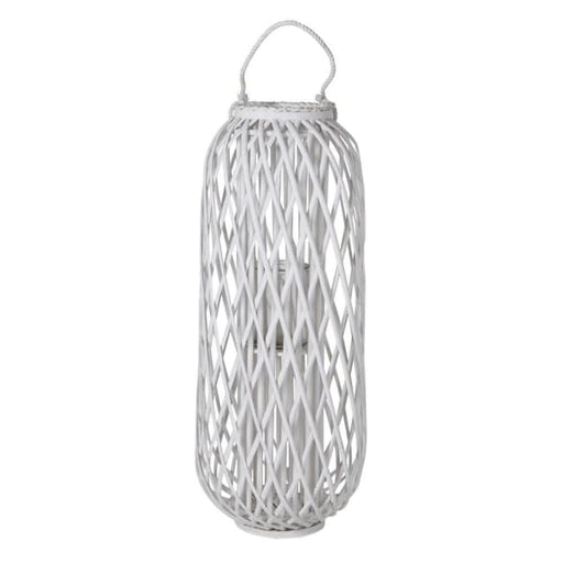 Bamboo & Rope White Lantern - Decor Interiors -  House & Home