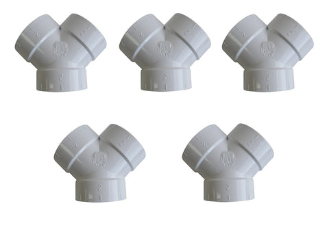 5 Central Vacuum Cleaner Short Y WYE 3 Fittings For All Central Vacuum Systems Including: Electrolux Eureka Frigidaire Hayden Honeywell Imperium MD Nadair Nutone ZVac (5, Short Y WYE 3 Way Connector) - ZVac