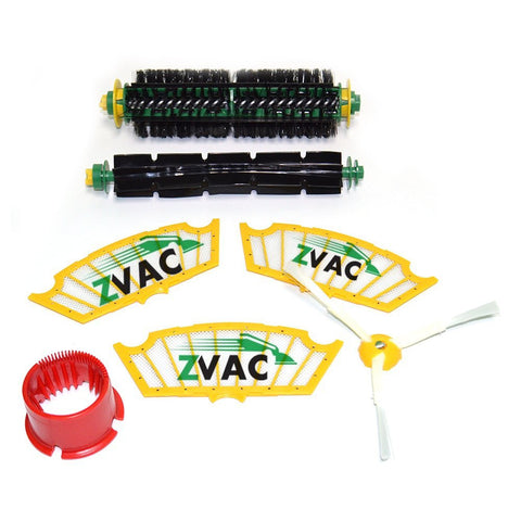 iRobot Roomba 500 Series Replenishment Kit For Red and Green Cleaning Heads By ZVac