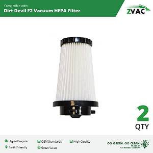 2 Dirt Devil F2 / F-2 Filters 3SFA11500X Fits Models Dynamite Quick Vac, Flip Stick, Jaguar Power Stick, Power Reach and Power Stick By ZVac Only From GoVacuum - ZVac