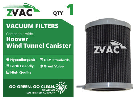 Hoover Windtunnel Canister Filter 59134033 UPC 608939747098 by ZVac - ZVac