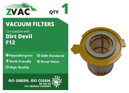 Dirt Devil F12 HEPA Filter 3-KD1680-000 UPC 608939746824 by ZVac - ZVac