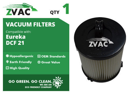 Eureka DCF21 Washable Filter 68931 UPC 608939747159 by ZVac - ZVac