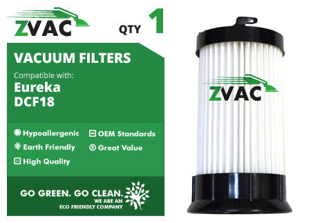 Eureka DCF 4 / 18 HEPA Filter 62132 by ZVac - ZVac