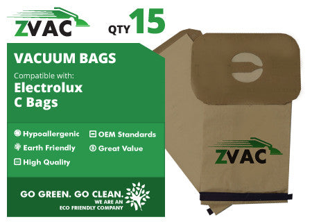 Electrolux Style C Canister Vacuum Bags (15 pack) by ZVac - ZVac