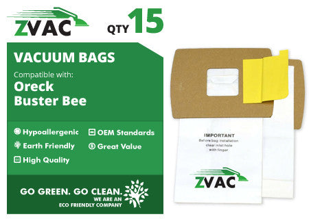 Oreck ZVac Buster B Canister Vacuum Bags (15 pack)
