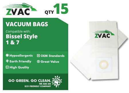 Bissell Style 7 Vacuum Bags (15 pack) by ZVac - ZVac
