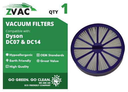 Dyson DC07, DC14 Purple Post-Motor HEPA Filter; Replaces Dyson DC-07, DC-14 Vacuum Part # 901420-02 By Zvac - ZVac