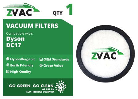 Dyson DC17 / DC-17 Washable Pre Filters Part # 911236-01 Fits All-Floors, Multi-Floor, Red, Animal Dyson Vacs By ZVac Only From GoVacuum - ZVac