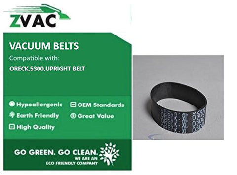 Oreck Upright (Fit similar to OEM 75024-01) Vacuum Belts by ZVac (Pack of 4)