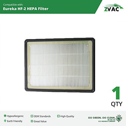 Eureka HF-2 HF2 HEPA Filter - Similar to Part # 61111, 61111A, 61111B - Made by ZVac - ZVac
