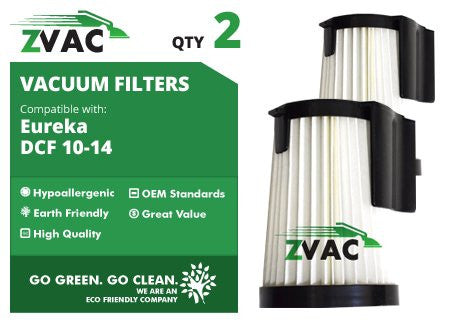 Eureka DCF-10 & DCF-14 Washable Filters -DCF10, DCF14, Similar to Eureka Part # 62731, 62396 - Made by ZVac - ZVac