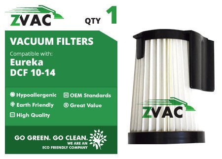 Eureka DCF-10 & DCF-14 Hepa Filter DCF10 DCF14 - Similar to Eureka Part # 62731, 62396 - Made by ZVac - ZVac
