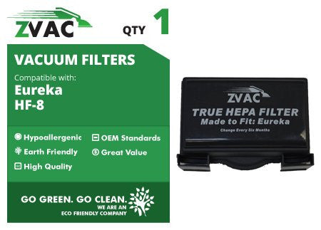 Eureka HF-8 HF8 Mighty Mite HEPA Filters - Similar to Eureka Part# 60666, 60666A, 60666B - Made by ZVac - ZVac