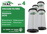 4 Kenmore DCF-5 Washable Dust Cup Filters Fits Quickclean K37000 By ZVac