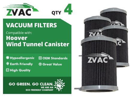 4 Hoover WindTunnel Bagless Canister Filter # 59134033 By ZVac - ZVac