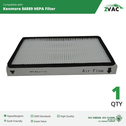 Kenmore 86889 HEPA Vacuum Cleaner Filter By ZVac