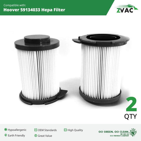 ZVac Hoover Windtunnel Canister Filters 59134033 2 Pack UPC 608939747104