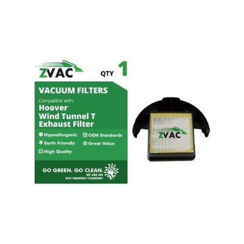 Hoover Windtunnel T-Series Rewind Upright Vacuum Cartridge HEPA Filter, Item Replaces Hoover Part # 303172001, 303172002 by ZVac - ZVac
