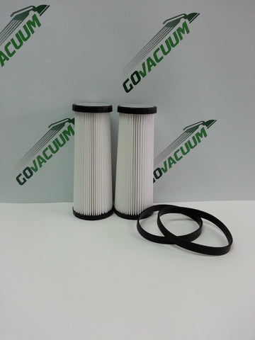 Dirt Devil F1, Style 4/5 Kit Includes 2 Washable HEPA Filter and 2 Vacuum Belts - Similar to Dirt Devil Part # 3JC0280000, 1540310001, 3720310001, 1LU0310X00, 3860140600 - Made by ZVac - ZVac