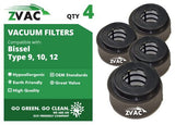 Bissell 9 / 10 / 12 HEPA filter with Foam Filter 32064 by ZVac - ZVac