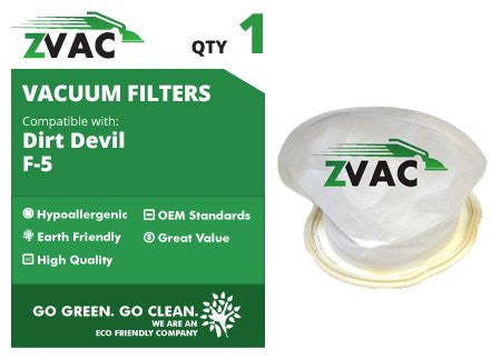 Dirt Devil F5 Washable Vacuum Filters 3-DEA950-001 by ZVac - ZVac