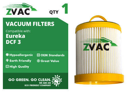 Eureka DCF3 Washable HEPA Filter 62136 UPC 608939747128 by ZVac - ZVac