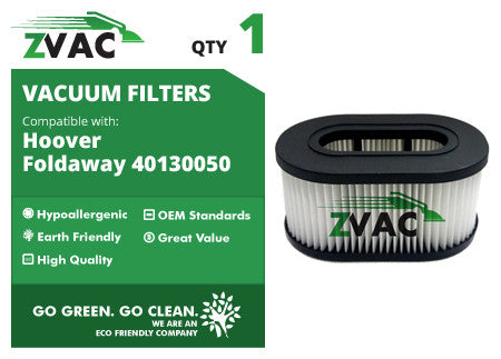 Hoover Foldaway Filter 40130050 by ZVac - ZVac
