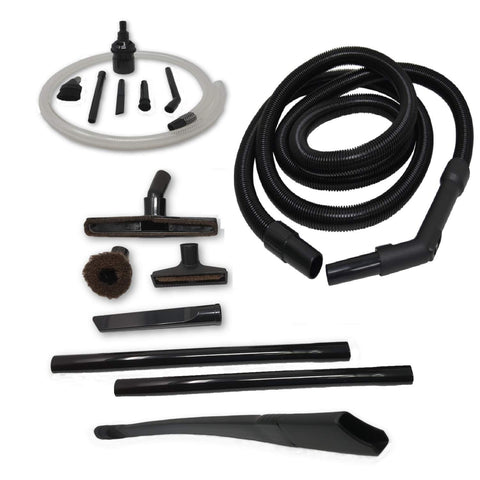 "ZVac Compatible 12ft Hose Attachment Kit Replacement for Shark DuoClean Powered Lift-Away Upright Vacuum. Hose Extension + Accessories Kit - Floor Brush, 24"" Flexible Crevice, Micro Attachments!"