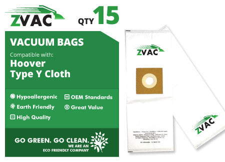 Hoover Type Y Cloth HEPA Vacuum Bags by ZVac - ZVac