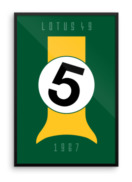 Framed 1967 Lotus 49 Tribute Poster