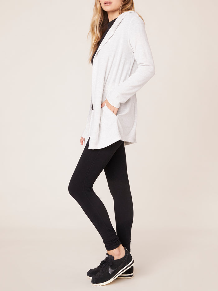 Long Heather grey Cardigan from BB Dakota
